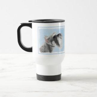 Schnauzer (Giant, Standard) 2 Painting - Dog Art Travel Mug