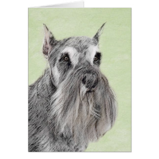 Schnauzer (Giant, Standard) Painting - Dog Art Card
