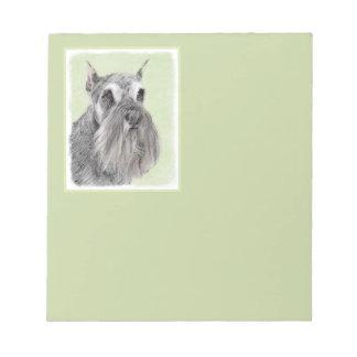 Schnauzer (Giant, Standard) Painting - Dog Art Notepad