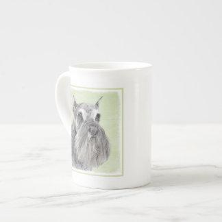 Schnauzer (Giant, Standard) Painting - Dog Art Tea Cup