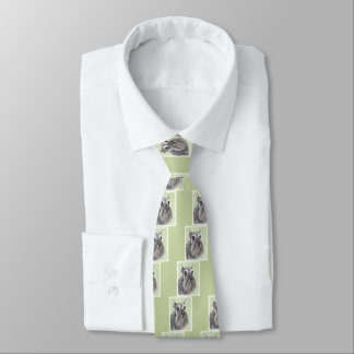 Schnauzer (Giant, Standard) Painting - Dog Art Tie