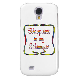 Schnauzer Happiness Samsung Galaxy S4 Covers