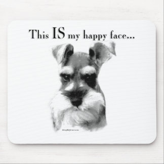 Schnauzer Happy Face Mouse Pads