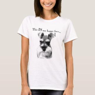 Schnauzer Happy Face T-Shirt