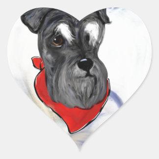 Schnauzer Heart Sticker