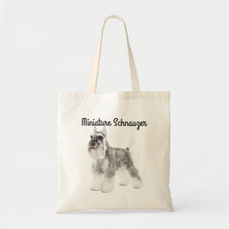 Schnauzer Illustrated Tote Bag