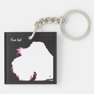 Schnauzer Key Ring