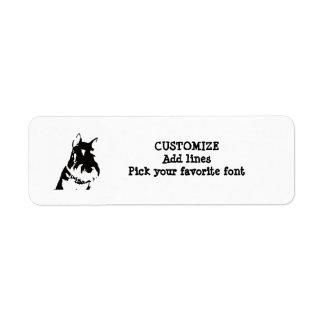 Schnauzer label