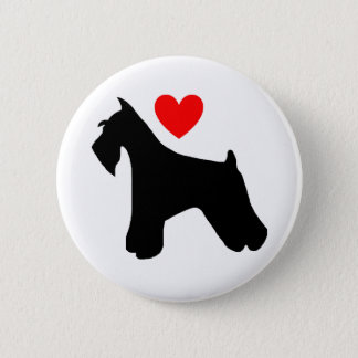 Schnauzer Love Button