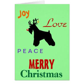 Schnauzer Love Christmas Card