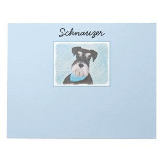 Schnauzer (Miniature) Painting - Cute Original Dog Notepad