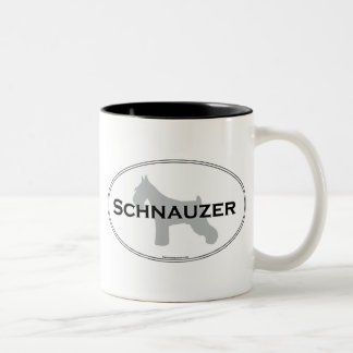 Schnauzer Oval Two-Tone Coffee Mug
