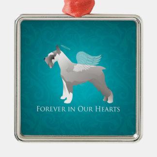 Schnauzer Pet Memorial Design Metal Ornament