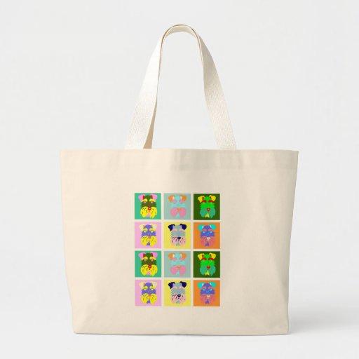 Schnauzer Pop Art Canvas Bag
