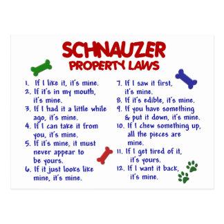 SCHNAUZER Property Laws 2 Postcard