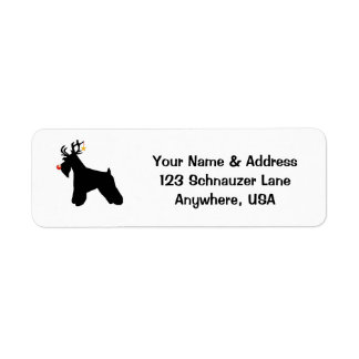 Schnauzer Reindeer Return Address Label