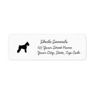 Schnauzer return address labels