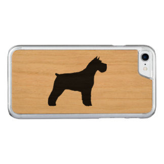 Schnauzer Silhouette Carved iPhone 8/7 Case