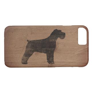 Schnauzer Silhouette Rustic iPhone 8/7 Case