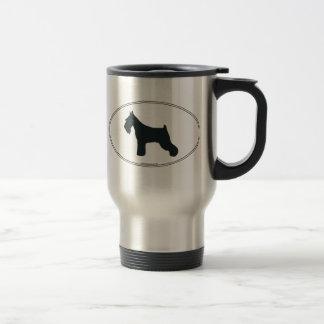 Schnauzer Silhouette Travel Mug