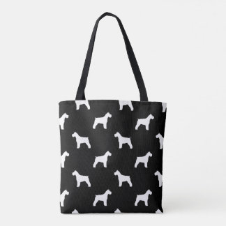 Schnauzer Silhouettes Pattern Tote Bag