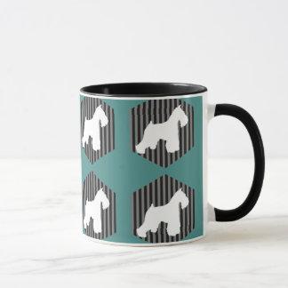 Schnauzer Stripes Coffee Mug