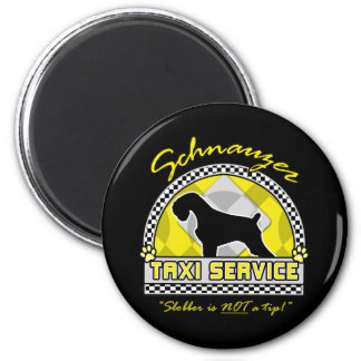 Schnauzer Taxi Service Magnet