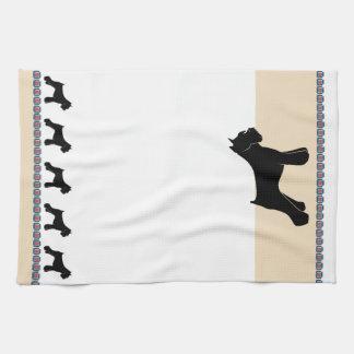 Schnauzer Tea Towel
