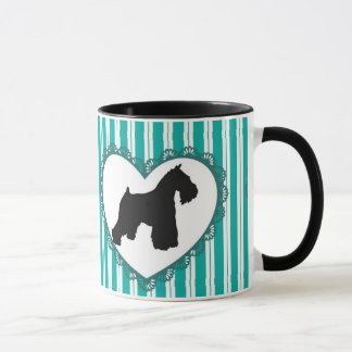 Schnauzers Hearts and Coffee Mug