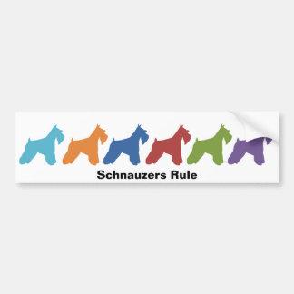 Schnauzers Rule Bumper Sticker
