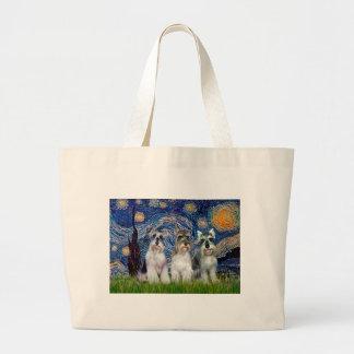 Schnauzers three - Starry Night Bags