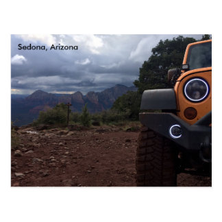 Schnebly Hill view with Jeep Halos Postcard