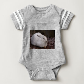 Schneehase Cute Zoo Animal Animal World Fur Hare Baby Bodysuit