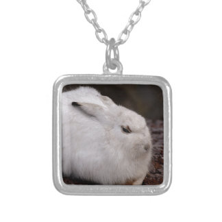 Schneehase Cute Zoo Animal Animal World Fur Hare Silver Plated Necklace