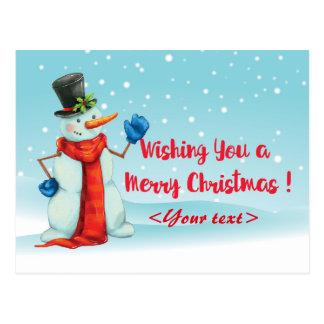 Schneemann, Christmas card personalisierbar
