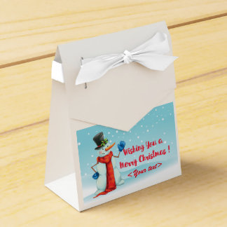 Schneemann, gift packing, personalisierbar favour box