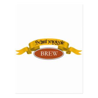Schnitzengiggle Brew Postcard