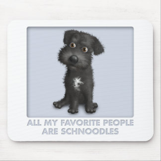 Schnoodle (Black) Favorite Mouse Pad