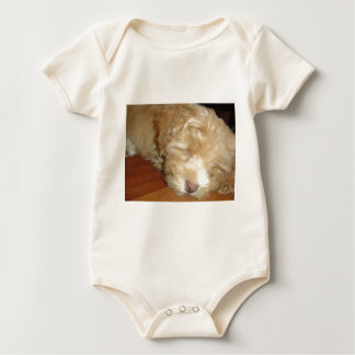 Schnoodle Puppy Sleeping Baby Bodysuit