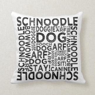 Schnoodle Typography Cushion