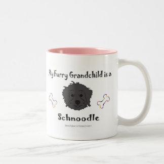 SchnoodleBlack Two-Tone Coffee Mug