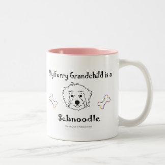 SchnoodleWhite Two-Tone Coffee Mug