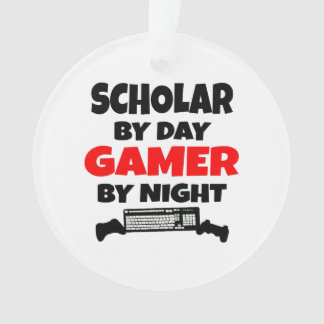 Scholar by Day Gamer by Night Ornament