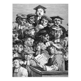 Scholars at a Lecture, 20th January 1736-37 Postcard