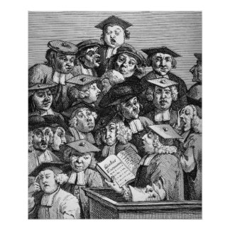 Scholars at a Lecture, 20th January 1736-37 Poster