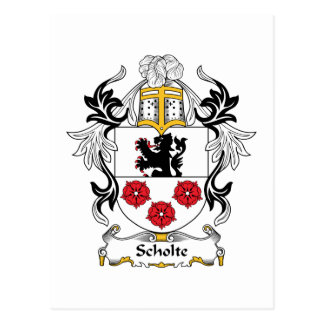 Scholte Family Crest Postcard