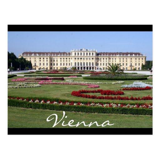 schönbrunn gardens vienna post cards