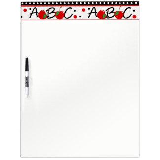 School ABC Apple Dry Erase Board