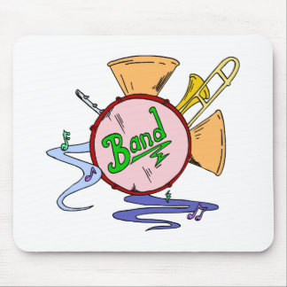 School Band Logo Musical Instruments Musician Mouse Pad