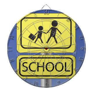 school banner dartboard